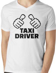 Taxi driver Mens V-Neck T-Shirt