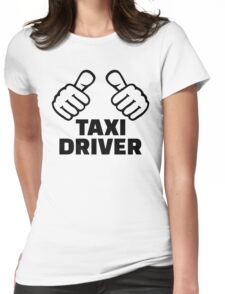Taxi driver Womens Fitted T-Shirt