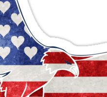 Patriotic American Flag Eagle  Sticker