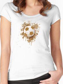 Soccer ball art Women's Fitted Scoop T-Shirt