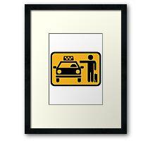 Taxi station Framed Print