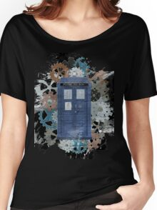 The Blue Box, Doctor Who inspired Art Women's Relaxed Fit T-Shirt