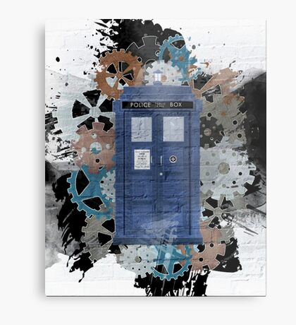 The Blue Box, Doctor Who inspired Art Metal Print