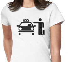 Taxi station passenger Womens Fitted T-Shirt