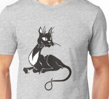 Sitting cat surprised Unisex T-Shirt