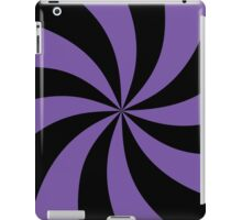 Black and Purple Spiral Pattern iPad Case/Skin
