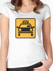 Taxi logo Women's Fitted Scoop T-Shirt