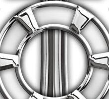 Chrome Style Nautical Life Anchor Applique Sticker