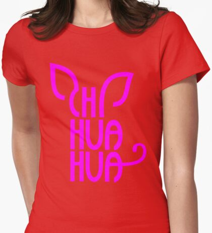 Chihuahua Typograph Womens Fitted T-Shirt