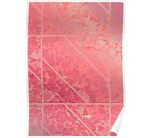 Pink Marble texture Poster