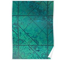 Green Marble Texture Poster