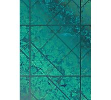 Green Marble Texture Photographic Print