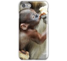 Monkey eating iPhone Case/Skin
