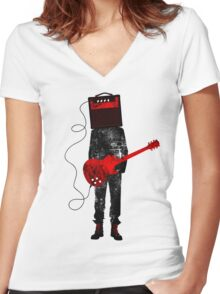 Amplified Women's Fitted V-Neck T-Shirt