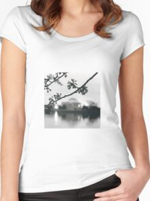 Cherry Blossoms at the DC Tidal Basin Women's Fitted Scoop T-Shirt