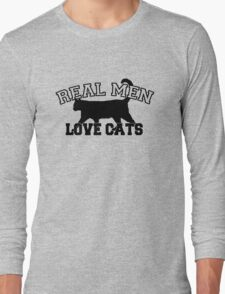 Real Men Love Cats Long Sleeve T-Shirt