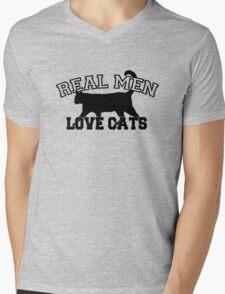 Real Men Love Cats Mens V-Neck T-Shirt
