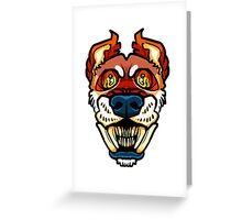 Teethy - Red Shift Greeting Card