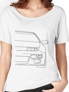 300zx outline - black Women's Relaxed Fit T-Shirt