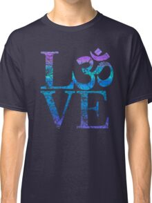 OM LOVE Spiritual Symbol in Distressed Style Classic T-Shirt