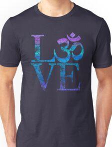 OM LOVE Spiritual Symbol in Distressed Style Unisex T-Shirt
