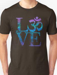 OM LOVE Spiritual Symbol in Distressed Style T-Shirt