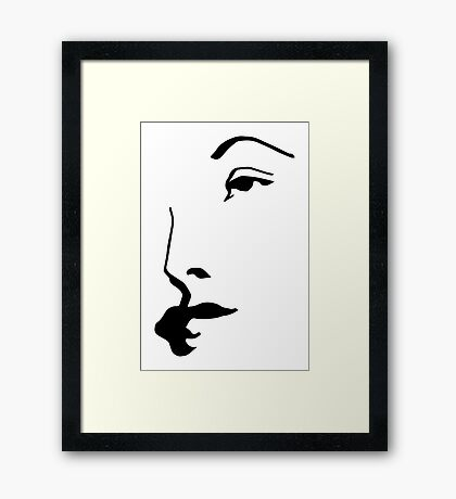 woman sketch in a few lines (1) Framed Print