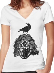 I Know Nothing Women's Fitted V-Neck T-Shirt