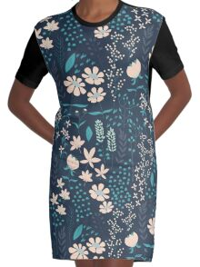 Flower Garden 004 Graphic T-Shirt Dress