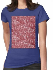 Red Marble texture Womens Fitted T-Shirt