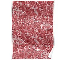 Red Marble texture Poster