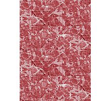 Red Marble texture Photographic Print