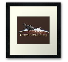 Firefly: You can't take the sky from me. Framed Print