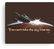 Firefly: You can't take the sky from me. Canvas Print