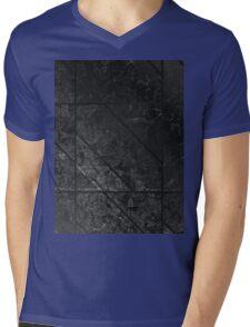 Black Marble texture Mens V-Neck T-Shirt