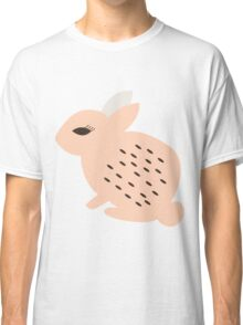 Rabbits and flowers 008 Classic T-Shirt