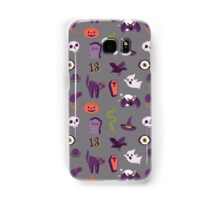 Halloween pattern in grey 2 Samsung Galaxy Case/Skin