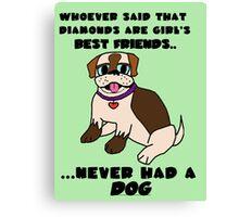 DOGS - BEST FRIENDS Canvas Print