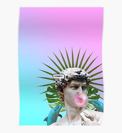 Vaporwave Seapunk Cool Style 3D Poster