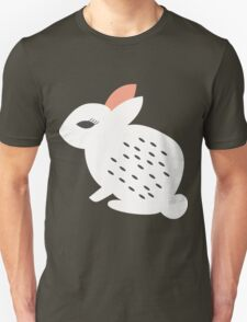 Rabbits and flowers 007 Unisex T-Shirt