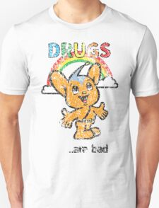 Pipo-Kun - Drugs Are Bad - Distressed Unisex T-Shirt
