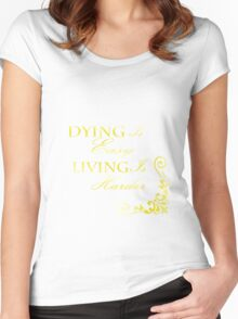 Hamilton: Dying is Easy Women's Fitted Scoop T-Shirt