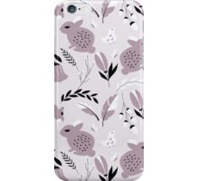 Rabbits and flowers 006 iPhone Case/Skin
