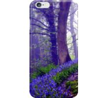 Bluebells in the Forest Rain iPhone Case/Skin