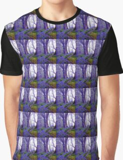 Bluebells in the Forest Rain Graphic T-Shirt