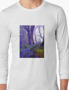 Bluebells in the Forest Rain Long Sleeve T-Shirt