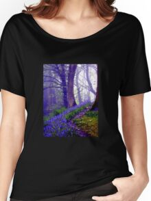 Bluebells in the Forest Rain Women's Relaxed Fit T-Shirt