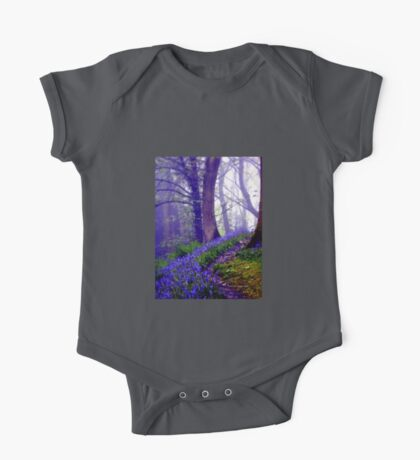 Bluebells in the Forest Rain One Piece - Short Sleeve