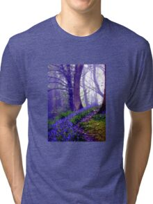 Bluebells in the Forest Rain Tri-blend T-Shirt