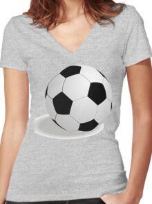 Shots on goal Women's Fitted V-Neck T-Shirt